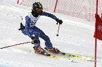 Tres esquiadores ciegos en el Campeonato de Italia
