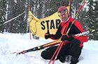 Esquiando sobre una vía de los nazis