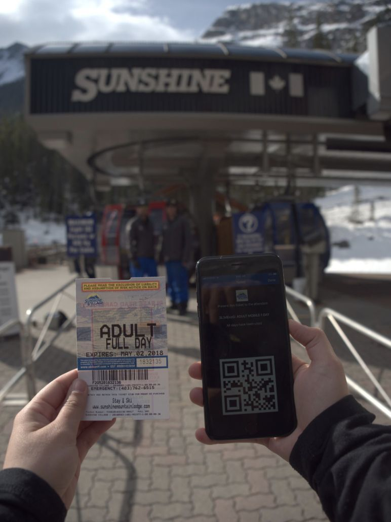 Sunshine Village Ski Movil
