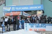 Protesta gremial en Catedral Alta Patagonia
