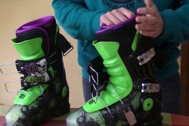 El flex de las botas de esquí