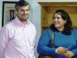 Presidente y vice de la UCR local, Daniel Fernandez y Susana Toledo