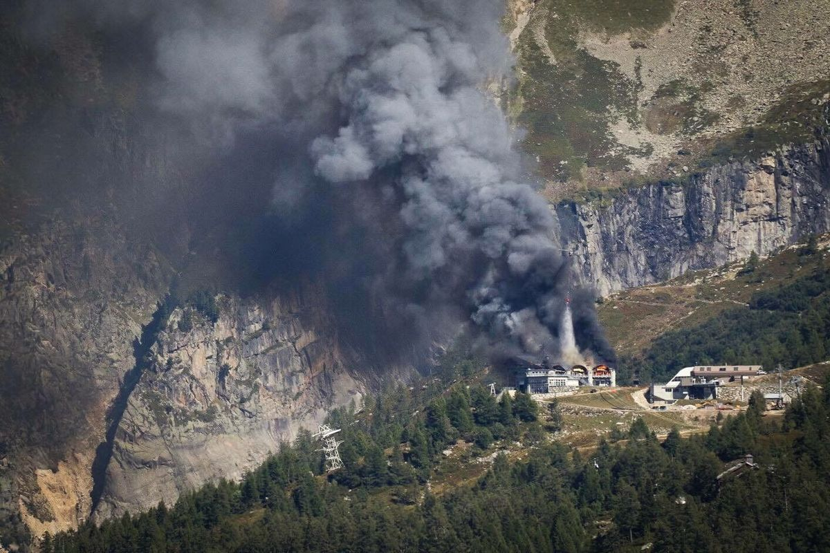 Incendio del teleférico de Grands Montets