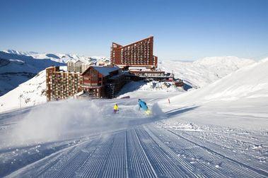 Nevadas dejaron 20 centímetros de nieve en Valle Nevado