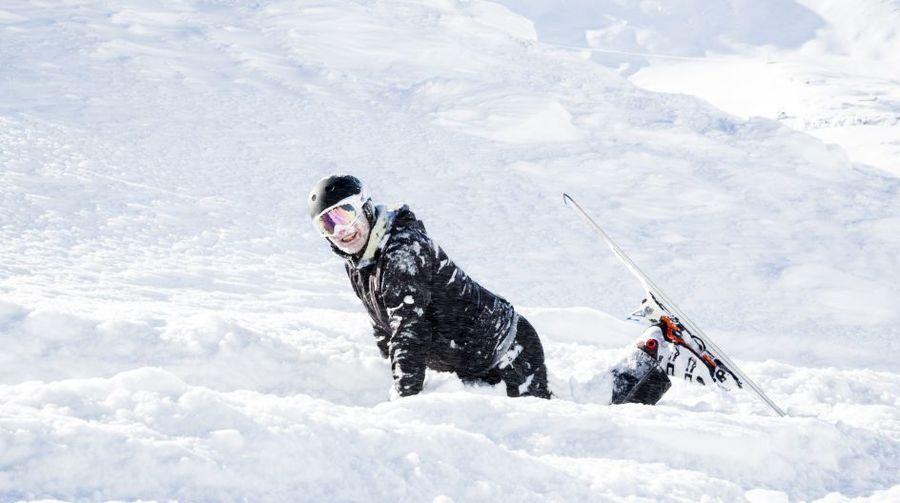 caida esquiando esqui ski