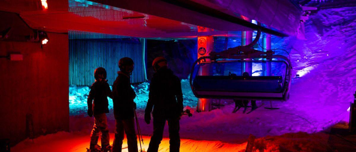 Tanndalen tiene un telesilla-discoteca para su esquí nocturno