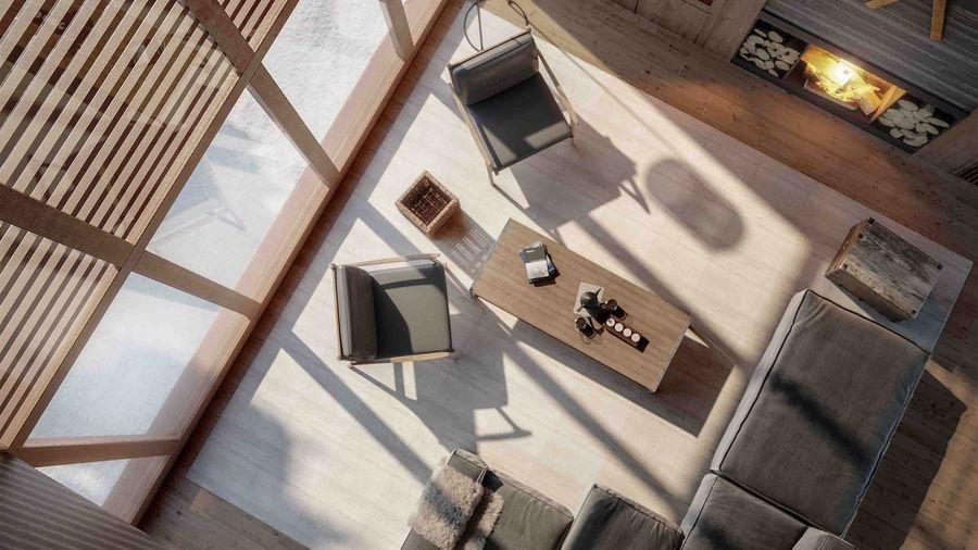 Imagenes de las casas de la nueva Pleta Arriu de Baqueira Beret
