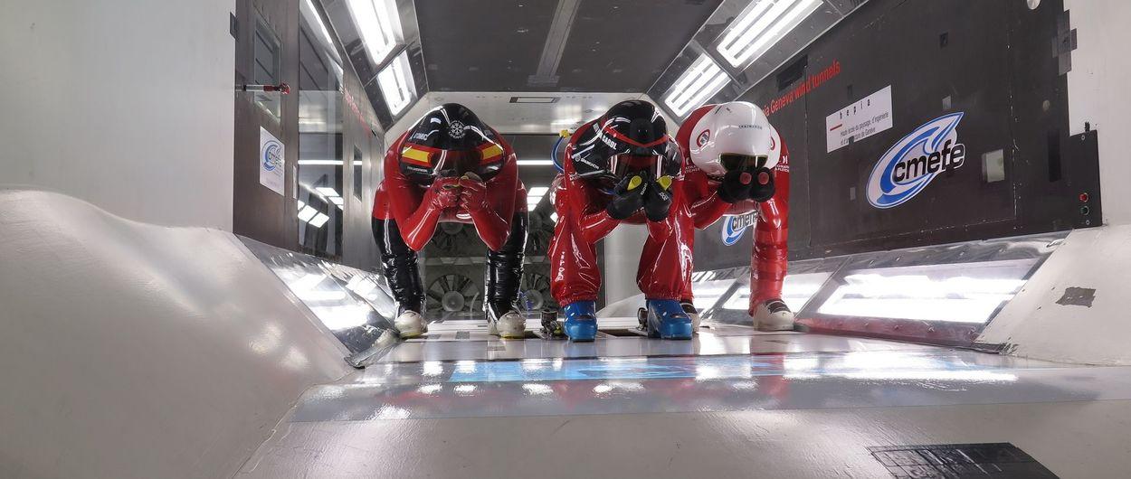 El equipo de Esquí de Velocidad de la RFEDI se entrena en el túnel de viento de Ginebra