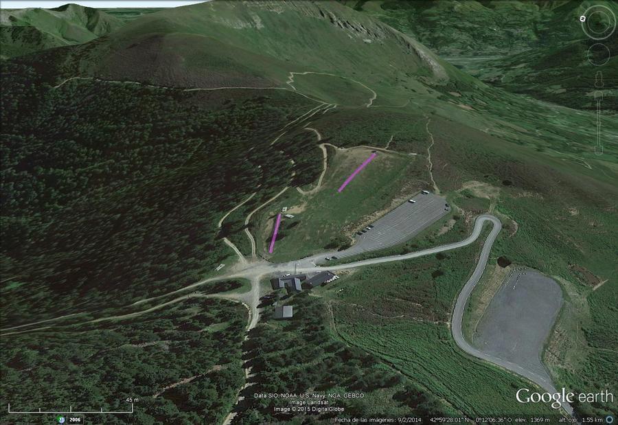 Vistas Google Earth Val d' Azun 2015-16