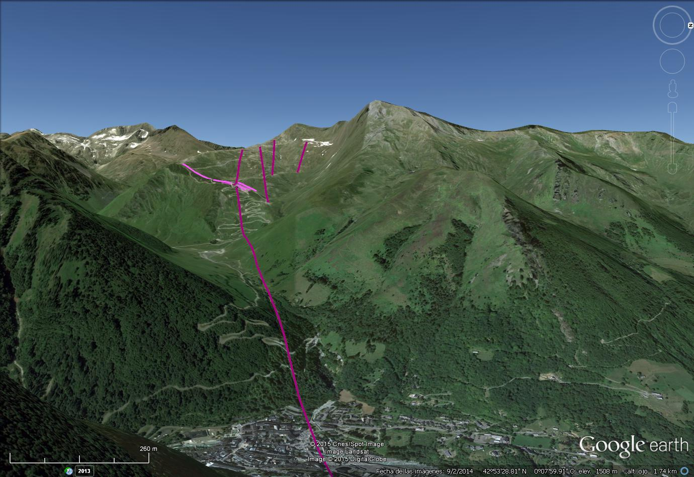 Vistas Google Earth Cauterets -Lys- 2015-16