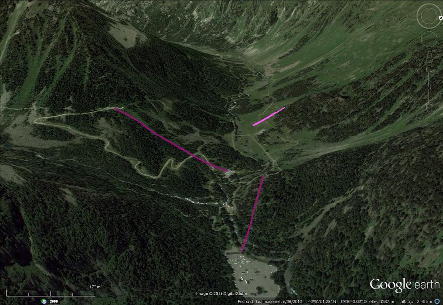 Vistas Google Earth Cauterets -Pont d' Espagne- 2015-16