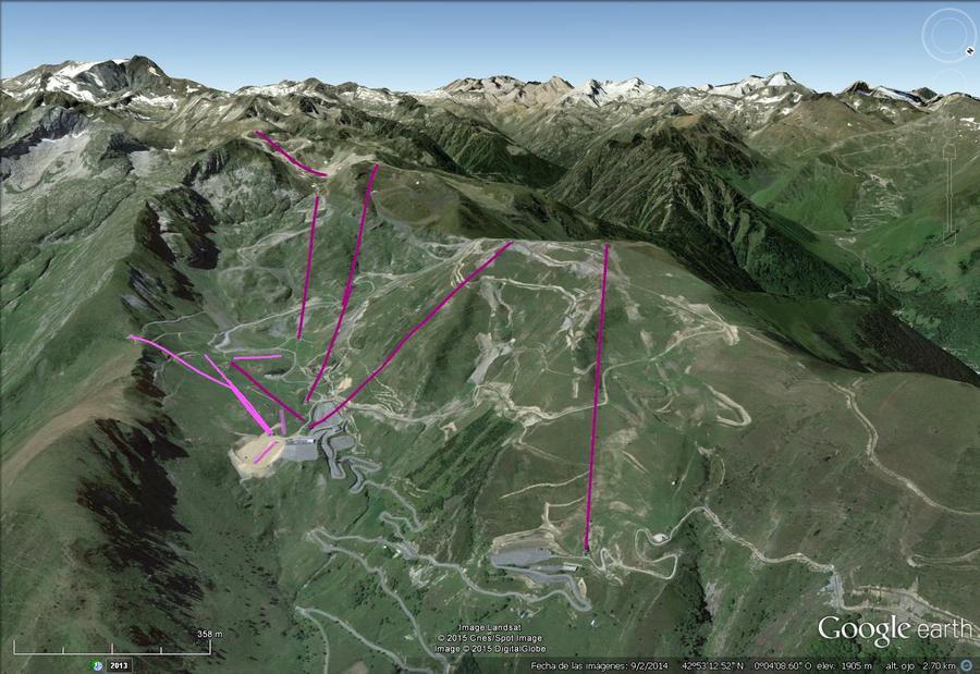Vistas Google Earth Luz Ardiden 2015-16