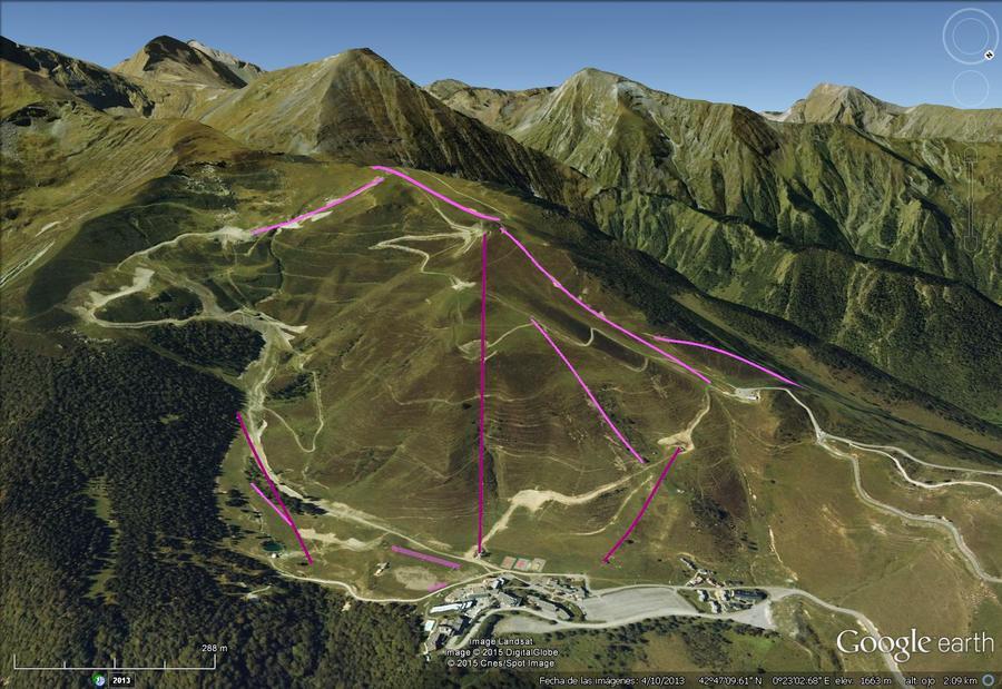 Vistas Google Earth Val Louron 2015-16