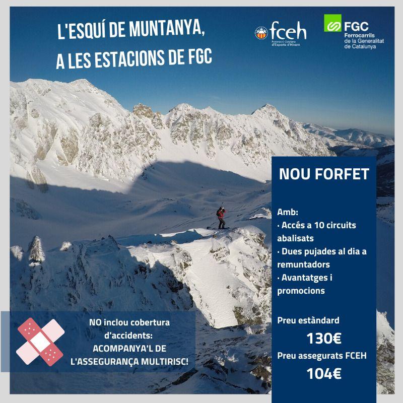Forfait esqui montaña de FGC