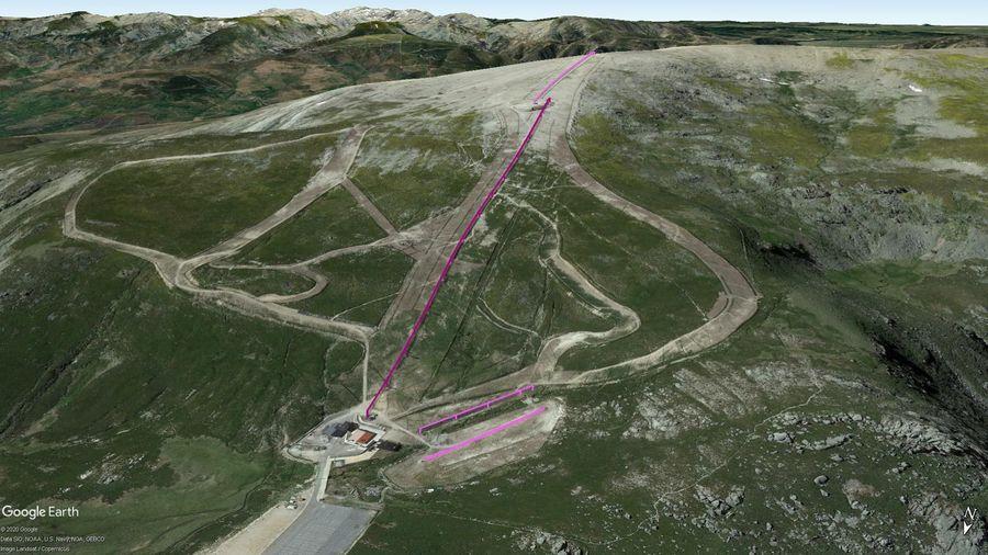 Vista Google Earth Sierra de Béjar Temporada 2020/21