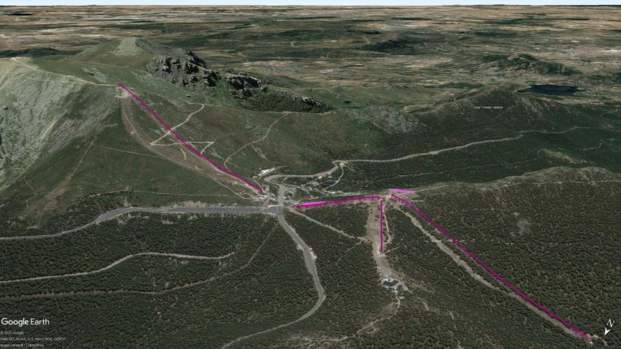 Vista Google Earth Puerto de Navacerrada Temporada 2020/21