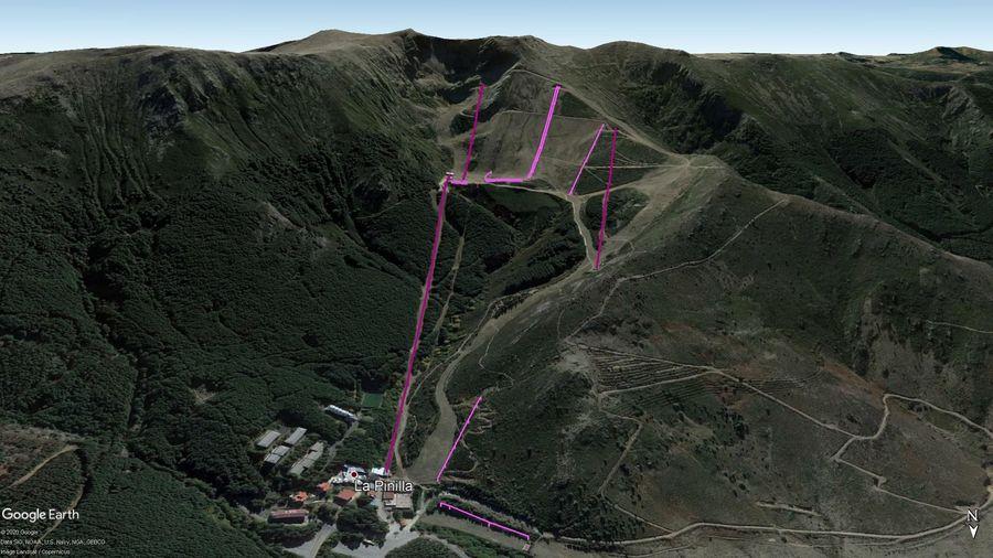 Vista Google Earth La Pinilla Temporada 2020/21