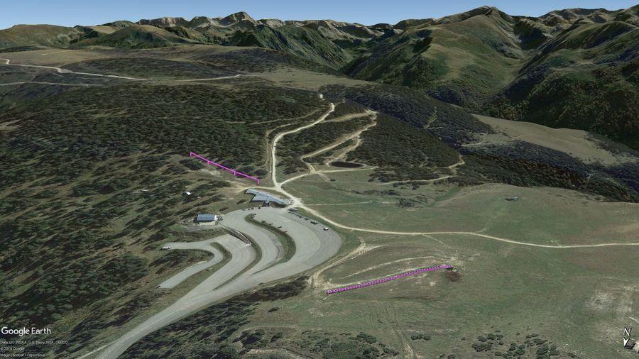 Vista Google Earth Plateau de Beille 2019/20