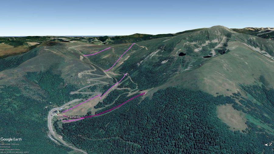Vista Google Earth Ascou 2019/20