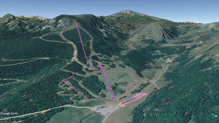 Vista Google Earth Mijanes-Donezan 2019/20