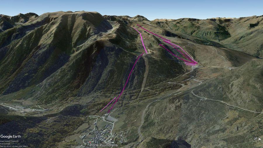 Vista Google Earth Porte Puymorens 2019/20