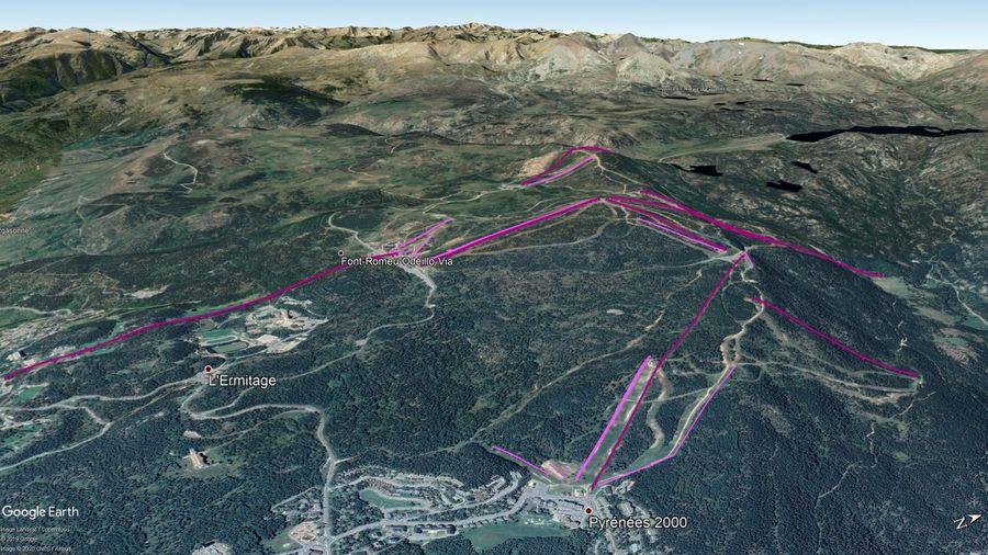 Vista Google Earth Font Romeu - Pyrénées 2000 2019/20