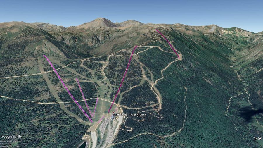 Vista Google Earth Formigueres 2019/20