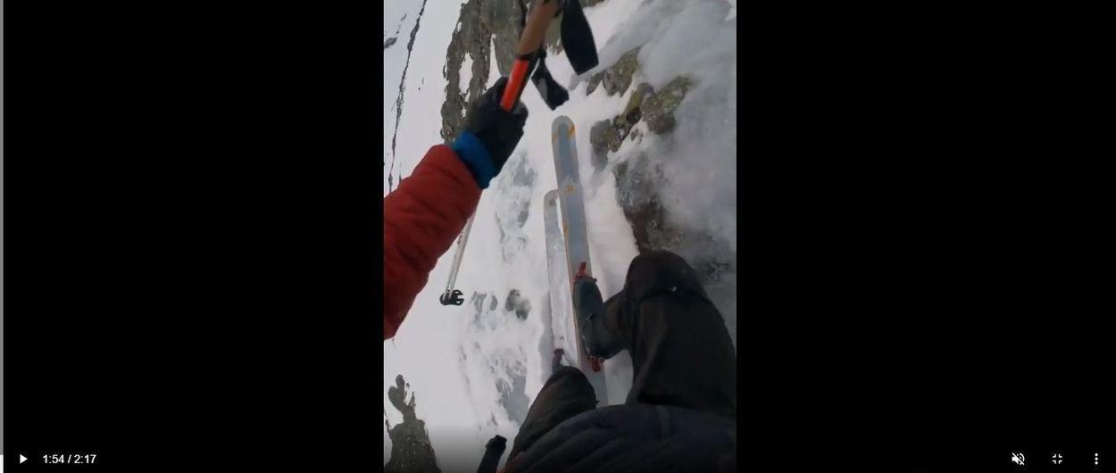 La última locura de Kilian Jornet: esquiar la vía de escalada Halls Renne