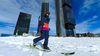 Esquiando por la Castellana