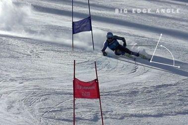 Inventando una nueva forma de esquiar!