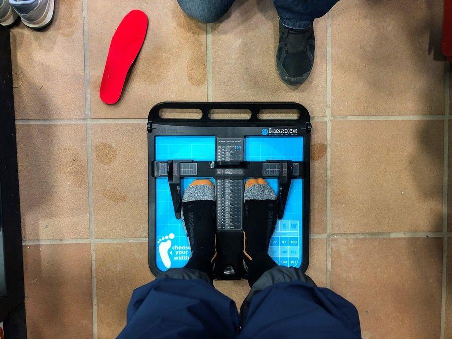 Medidas de botas de esquí