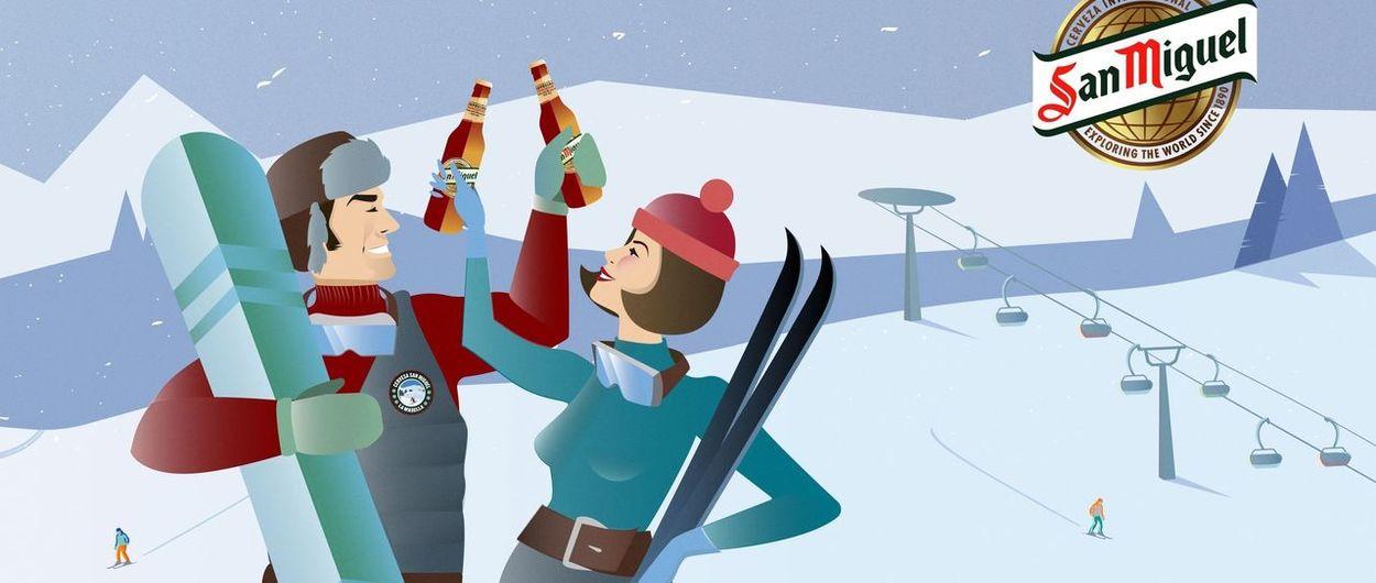 San Miguel inicia una gira de esquí, conciertos y barbacoas por el Pirineo
