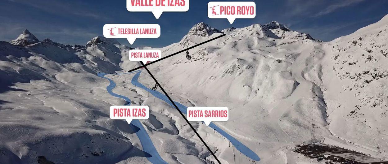 Formigal rozará los 150 kilómetros con nuevas pistas de esquí en Izas
