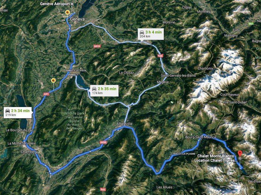 Ruta Ginebra - Tignes