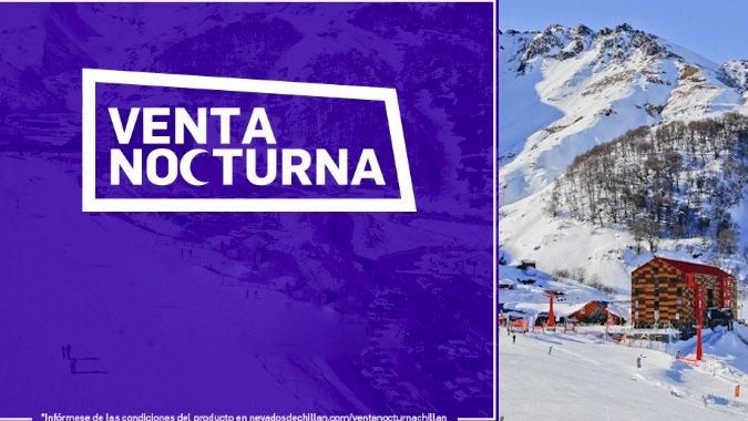 Nevados de Chillán hace venta nocturna de tickets y estadías