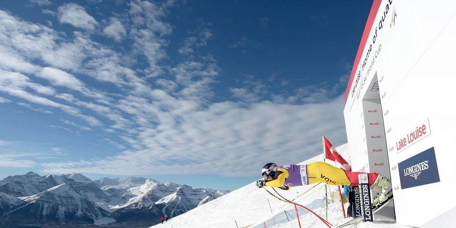 Prueba de Copa del Mundo de esqui en Canadá