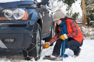 Consejos para conducir con nieve y poner cadenas