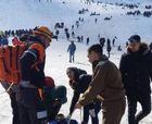 En Camino a Valle Nevado choque de trineos deja 5 lesionados, uno en riesgo vital