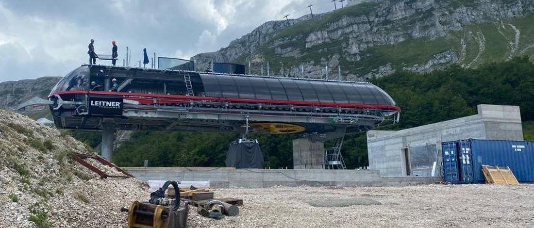 Nuevo telecabina en la estación de esquí más grande del centro de Italia