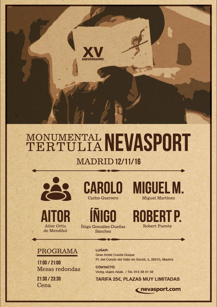 Tertulia Nevasport 2016