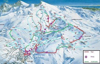 Plano de situación de los nuevos 100 cañones de nieve de Sierra Nevada