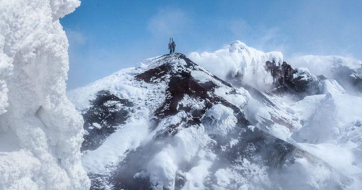 Esquiando super-volcanes, otra forma de viajar y soñar
