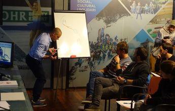 Max Blardone ha dado una clase magistral de esquí en Barcelona