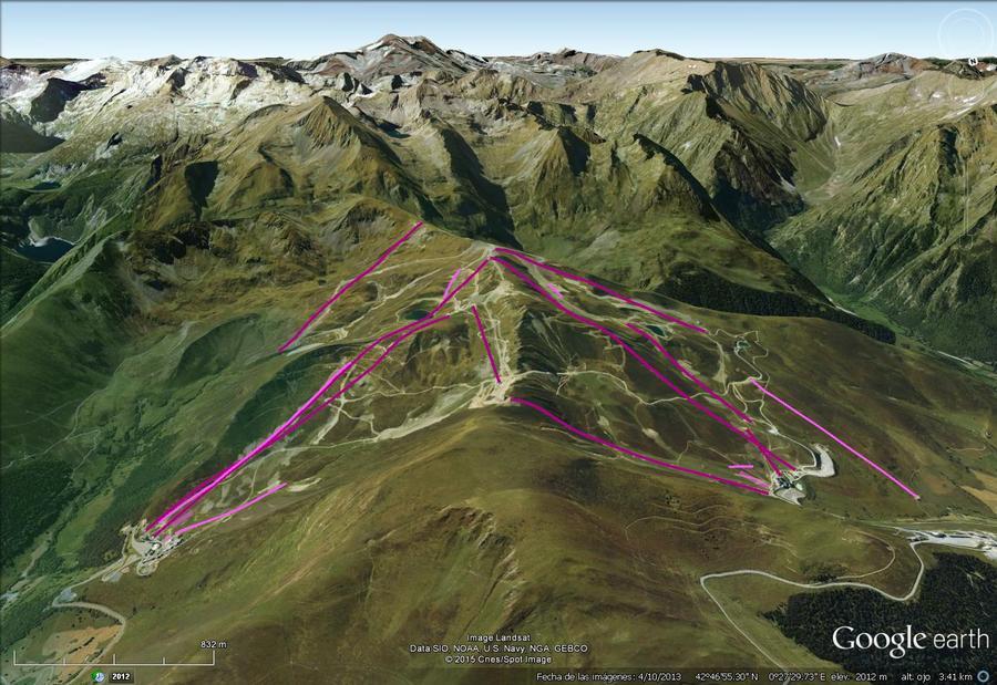 Vistas Google Earth Peyragudes 2015-16