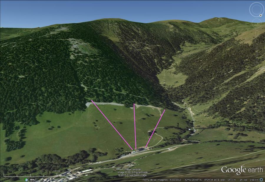 Vistas Google Earth Bourg d' Oueil 2015-16