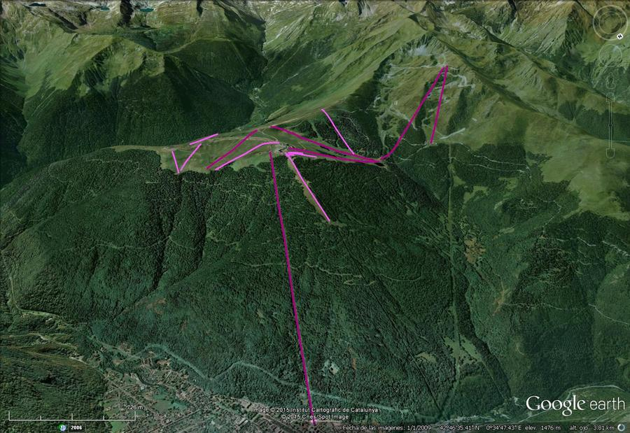 Vistas Google Earth Superbagneres 2015-16