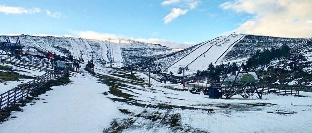 Las estaciones de esquí de Madrid preocupadas por la falta de nieve