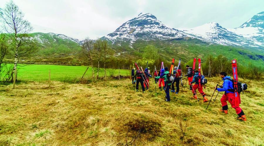 Ascensiones pico Noruega en esquis. @Marc Gasch