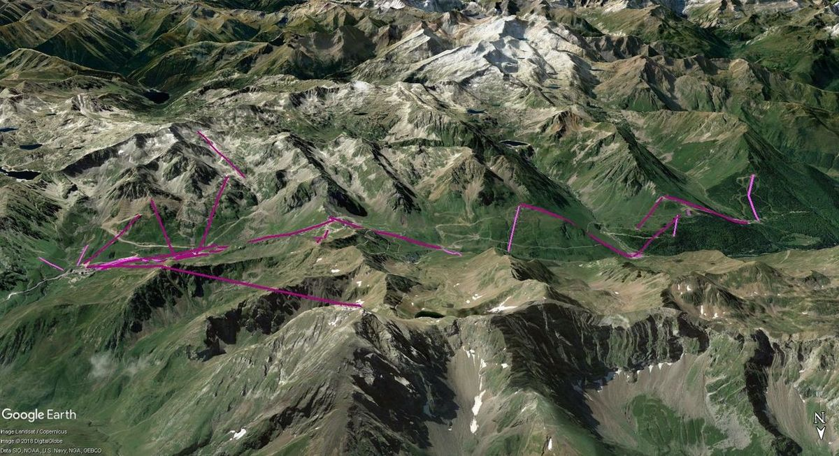 Vistas Google Earth Grand Tourmalet 2017-18