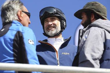 El Rey Felipe VI pasa el fin de semana en Sierra Nevada 2017